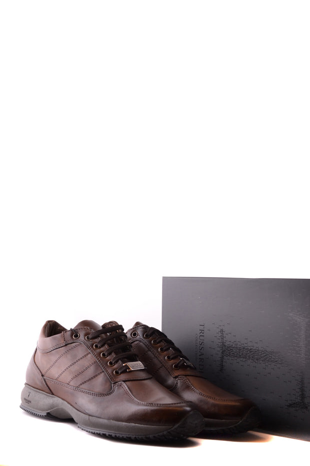 Leather dark brown Trussardi sneaker