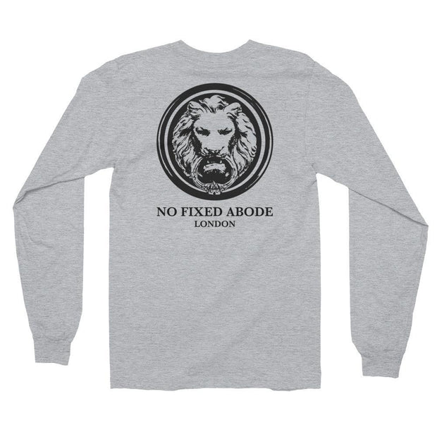 Mens Lion Back Long Sleeve T-Shirt