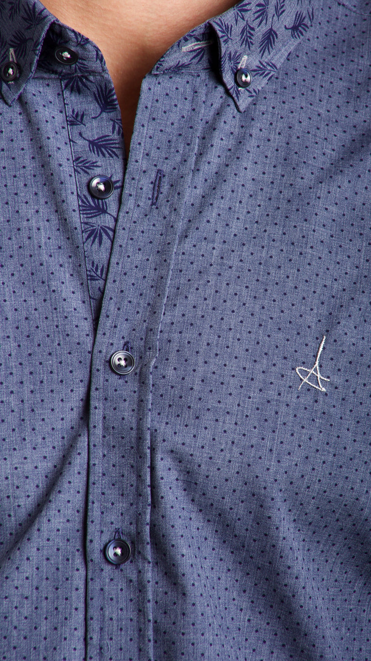 Polka Dot Slim Fit Dress Shirt