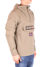 Napapijri beige winter jacket with front pocket