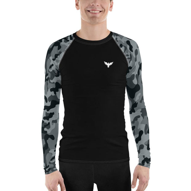 Men's Modern Camo Sleeve Performance Rash Guard UPF 40+