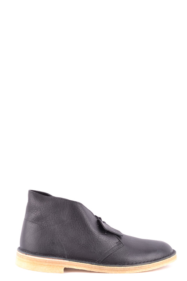 Leather black boots Clarks