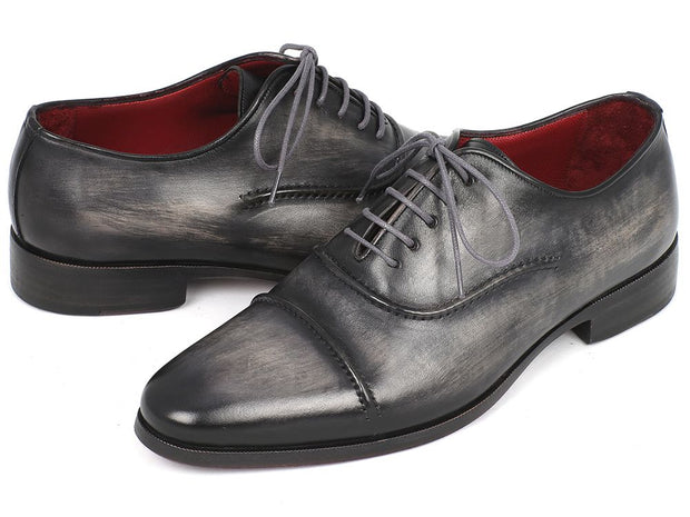 Paul Parkman Men's Captoe Oxfords Gray & Black Shoes