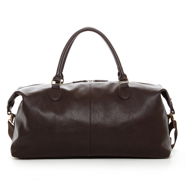 Gunner Brown vegan Leather duffle bag in brown