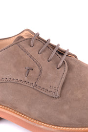 Tod's brown derby shoes