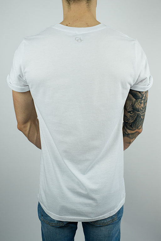 The Lakeside Rolled-cuff T-shirt in White