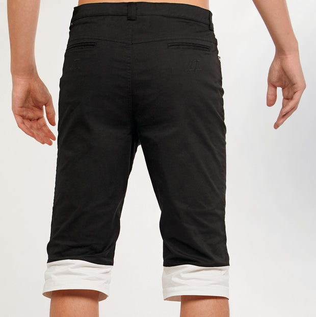 Men's Black & White Shorts