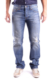 Galliano washed jeans in light blue