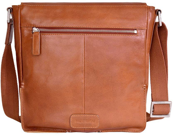 Hidesign Fred Leather Business Laptop Messenger Cross Body Bag