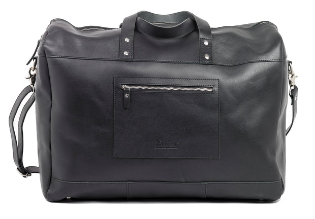 Black Leather Duffel Bag