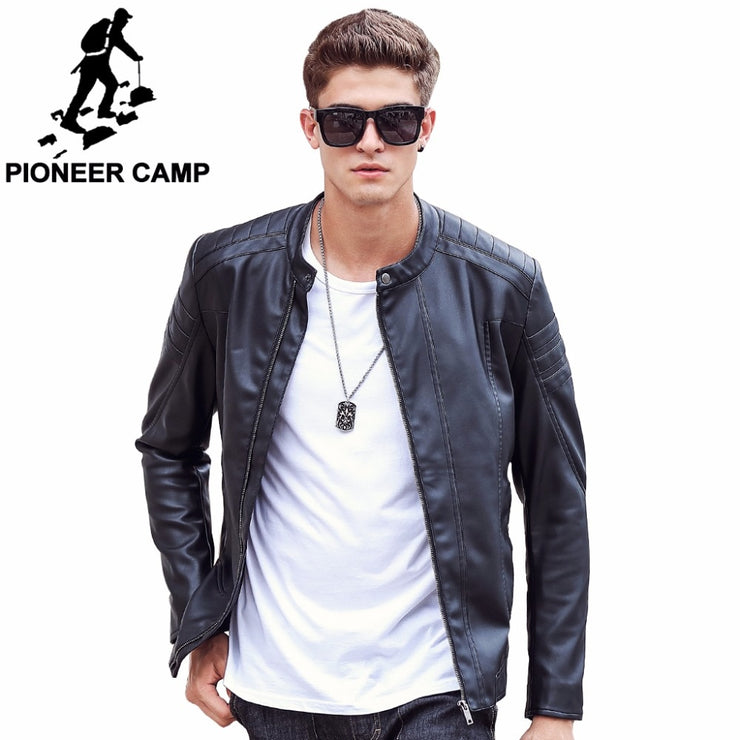 Pioneer Camp Motorcycle Leather Jackets Men