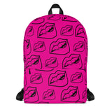 LIPS Pink & Black Backpack