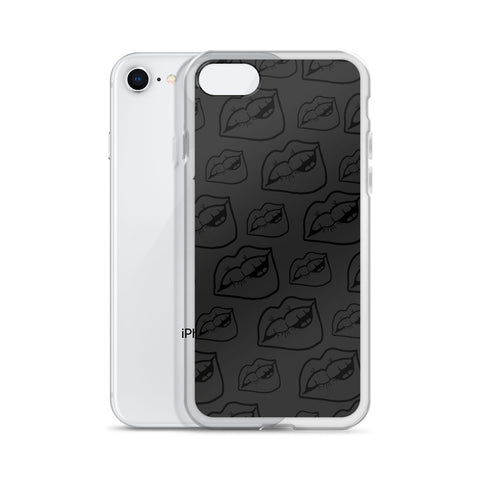 LIPS Black & Gray iPhone Case 7 - XR