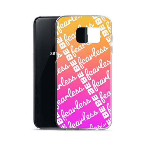 BE FEARLESS Sunset Samsung Case