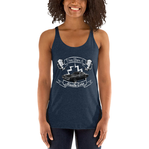 DIVE BARS & MUSCLE CARS Womens Tank Top