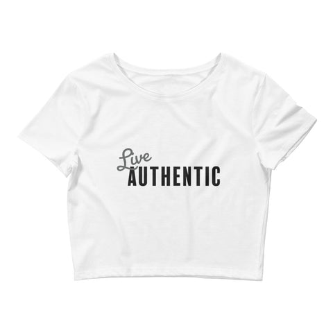 LIVE AUTHENTIC Womens Crop Tee