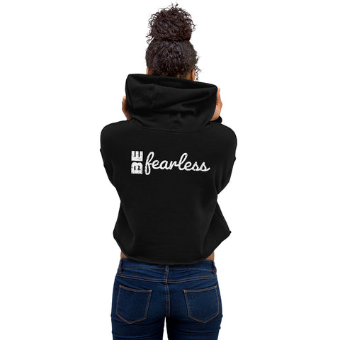 BE FEARLESS Womens Crop Hoodie