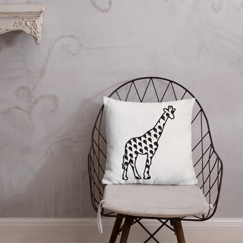Premium Throw Pillow - Giraffe and Rhino Collection