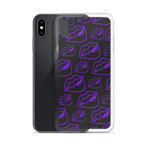 LIPS Purple & Gray iPhone Case 7 - XR