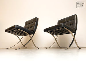 Vintage - Barcelona Lounge Chair (zwart)
