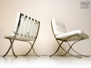 Vintage - Barcelona Lounge Chair (wit)