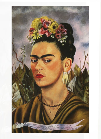 Actual Frida Kahlo Painting, Self Portrait, 1940