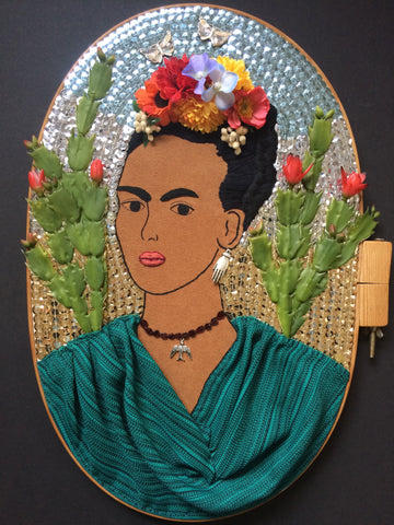 "Picture of ""Frida Kahlo with Cactus"" Hoop Art"