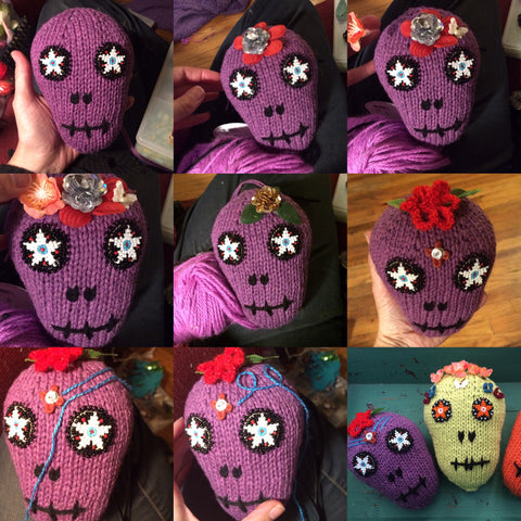 Process picture of Day of the Dead Skull Pillows