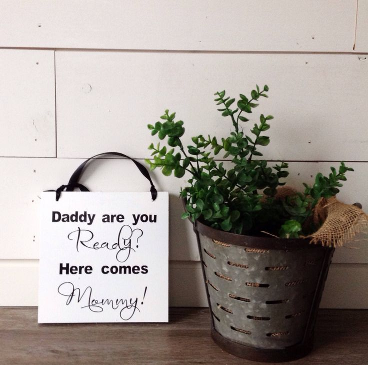 Home Decorating Ideas Rustic Excited to share this item from my #etsy shop: Daddy are you Ready? Here comes M…