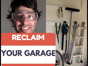 Learn with me, as I take control of the garage with this is easy storage/organization solution
