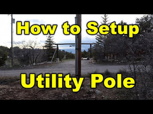 How to install a utility pole and run underground for a cabin.