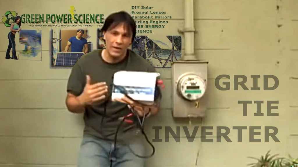 DIY grid tie solar power using solar panels