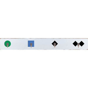 Trail Markers Wall Hook Board - 6-in H x 44-in W
