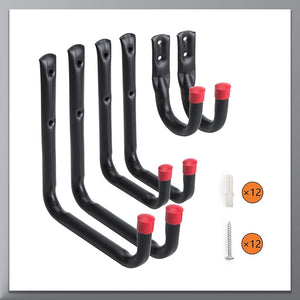 Heavy Duty Garage Storage Untility Hooks ,Red