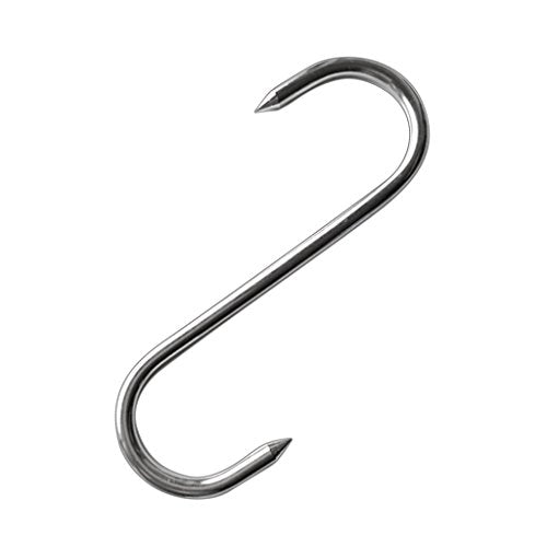 LOVIVER Stainless Steel S Meat Hook Extra Heavy Duty Thick Kitchen Meat Tool