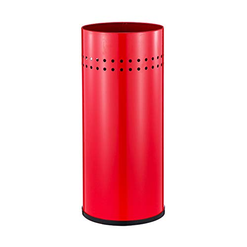 Stainless Steel Umbrella Stand,Metal Round Super Quality Umbrella Holder Open Entry Way for Short Long Umbrellas Office with Hooks-red 22x22x50cm(9x9x20)