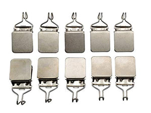 Small Hanging Clips (10 pcs) Medium Power Hook Based for Tapestry Small Rug and Paintings by Wise Linkers