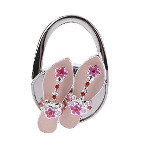Simdoc Rhinestone Folding Handbag Table Hanger Deck Shoes Shaped Purse Hanger Handbag Holder Table Hook Gift