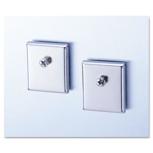 Universal Cubicle Accessory Mounting Magnets, Silver, Set of 2 (UNV08172)