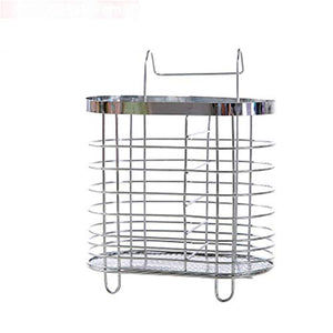 Chopsticks Organizer Multi-Purpose Stainless Steel Mesh Utensil Holder Spoon Knife Fork Drying Basket Rack for Kitchen Storage Tool (C)