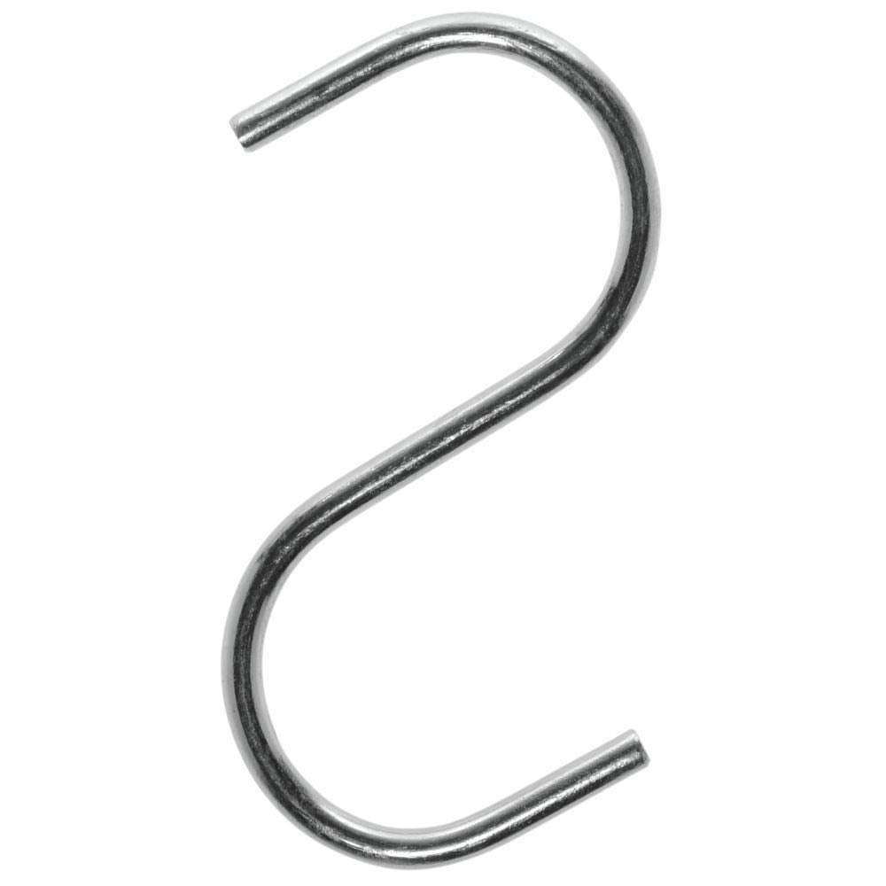 Small-Zinc S-Hooks 2 x 4 Pack of 50