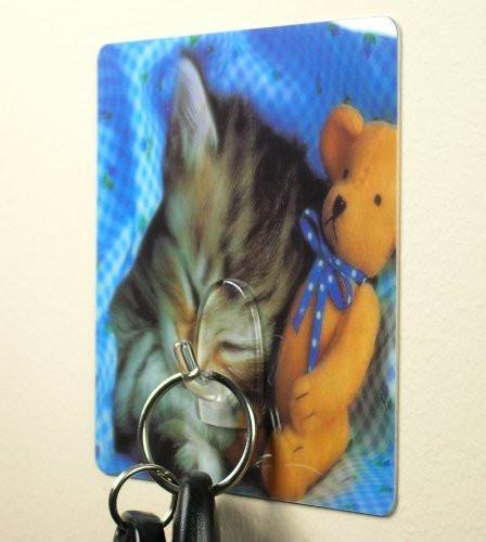 Kitten with Teddy Bear Utility Hook(5510)
