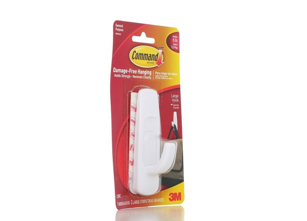 3M Command Removable Adhesive Utility Hook, 5-lb Capacity, 12 Pack (17003)
