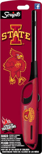 NCAA Iowa State Cyclones Licensed Scripto Multipurpose Utility Lighter - Official Cardinal & Gold - Tailgating Essential (1-Pack)