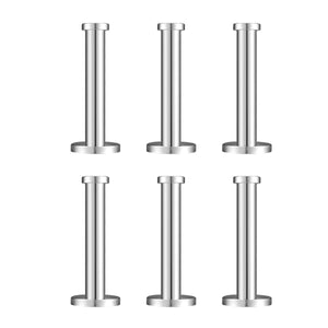 6 Pieces Stainless Steel Wall-Mount Robe Hook Coat Hook Towel Wall Hook, Brushed Nickel (4 Inch)