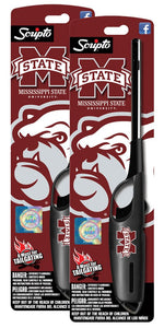 NCAA Mississippi State Bulldogs Licensed Scripto Multipurpose Utility Lighter - Official White & Maroon - Tailgating Essential (2-Pack)