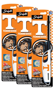 NCAA Tennessee Volunteers Licensed Scripto Multipurpose Utility Lighter - Official White & Orange - Tailgating Essential (3-Pack)