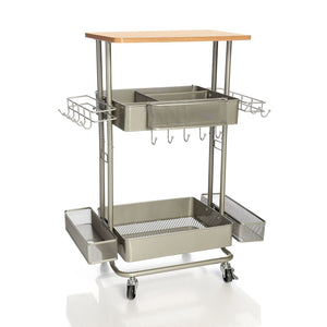 "Paula Deen 34"" Multi-Purpose Utility Cart Pewter"