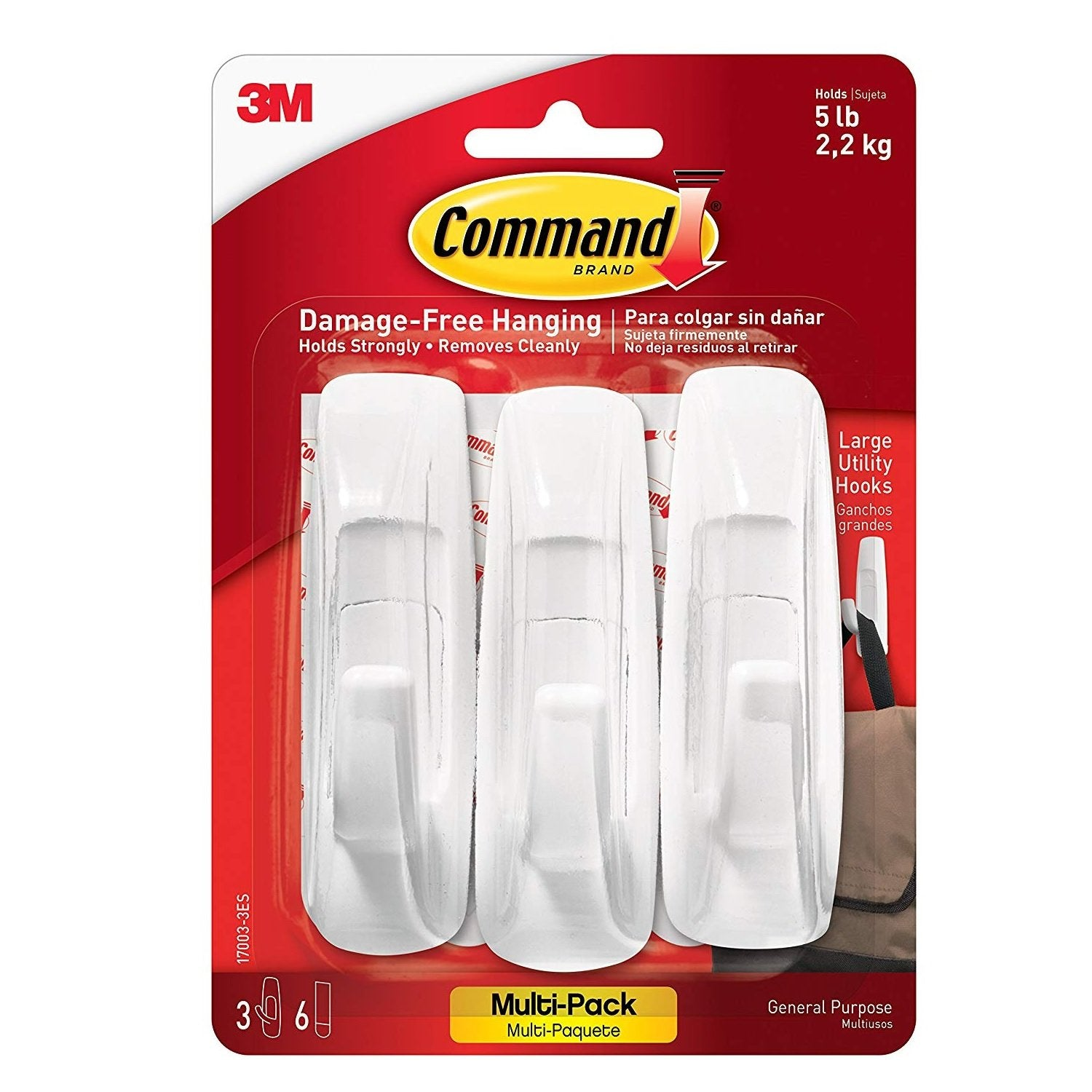Large-Sized Command™ Utility Hooks