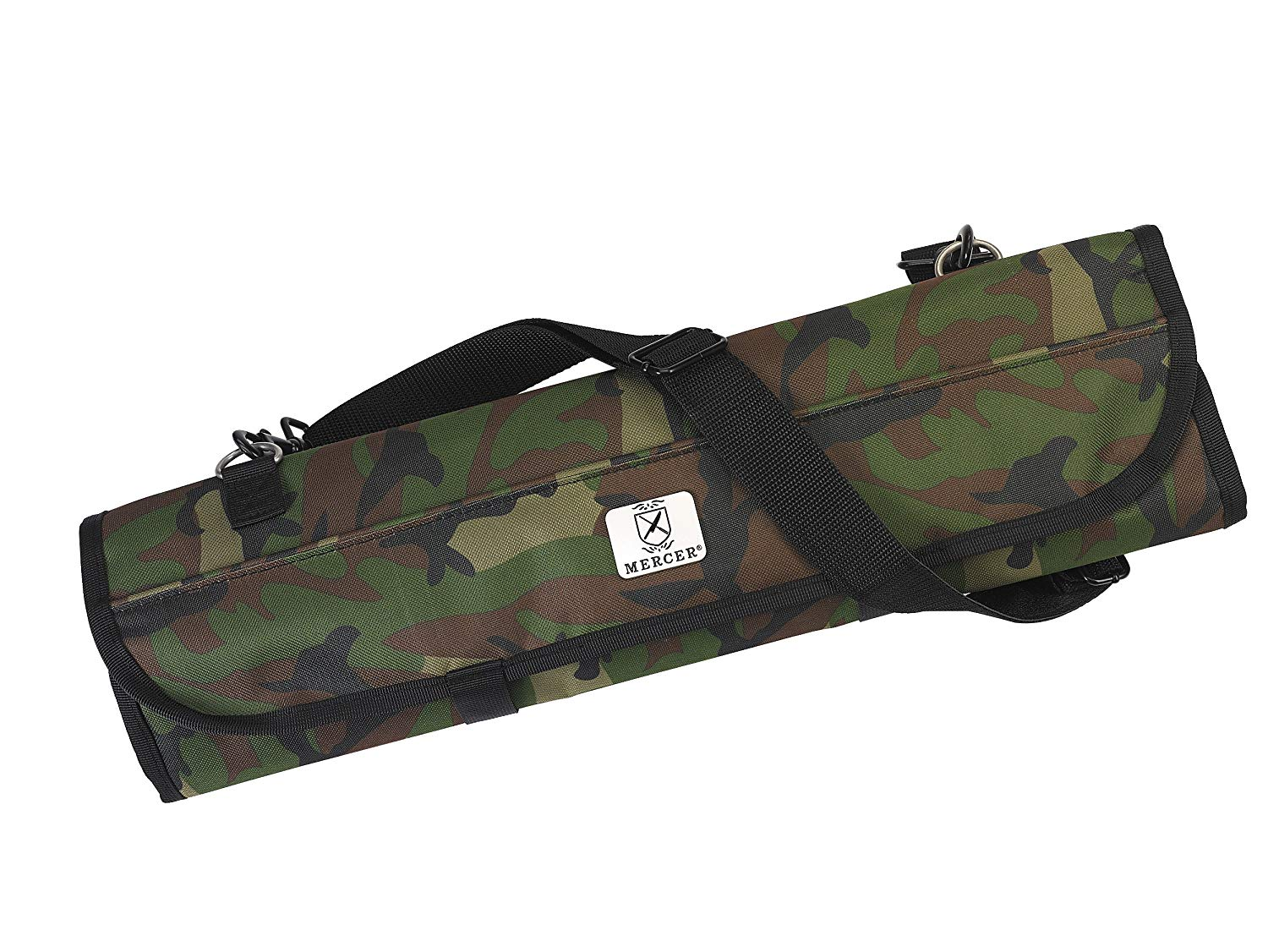 Mercer Culinary 7-Pocket Knife Roll Storage Bag, One Size, Camouflage